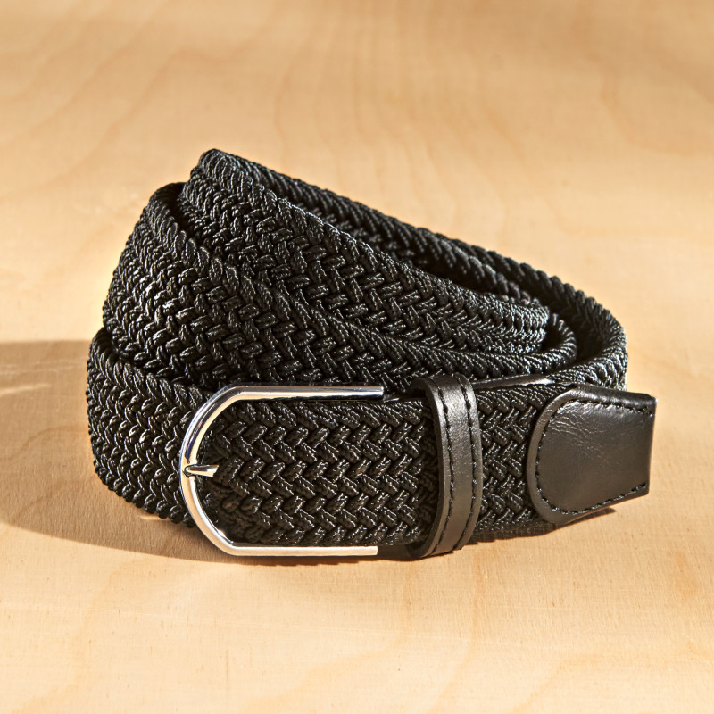 2 elastické opasky, černá + černá/bílá onerror=