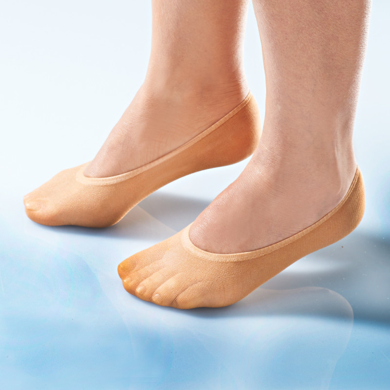 5 párov ponožiek - ťapiek, telová