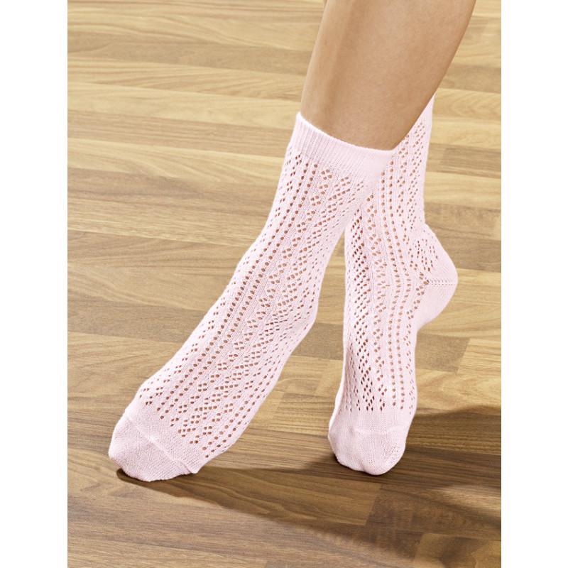 4 páry háčkovaných ponožek onerror=