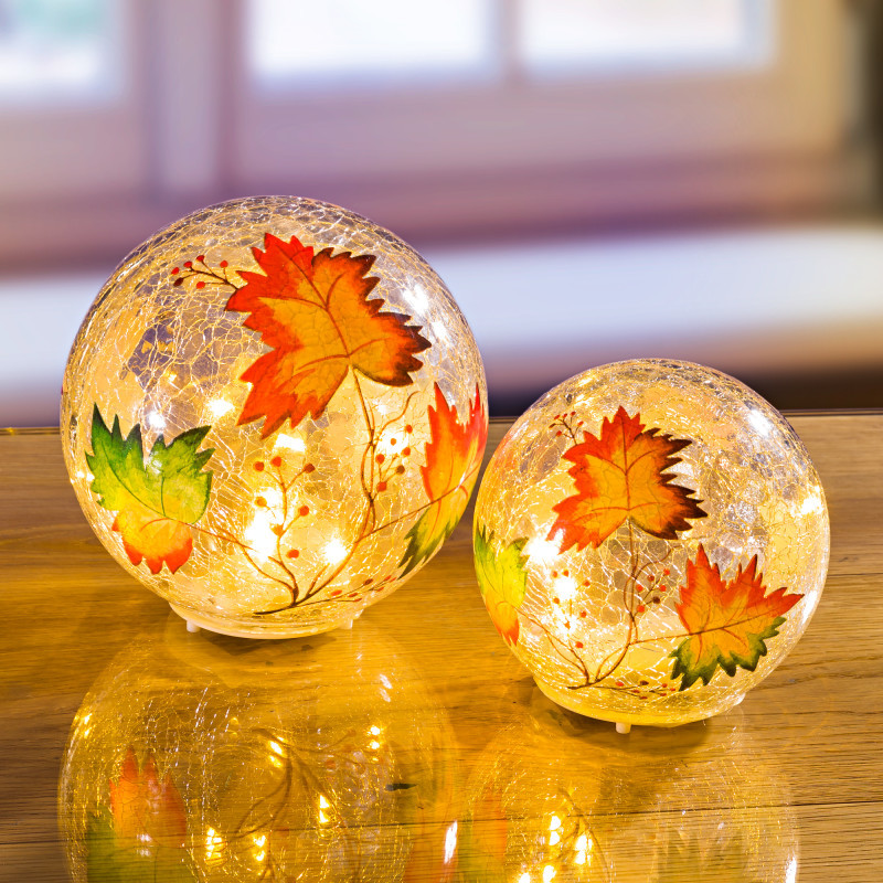LED sklenená guľa