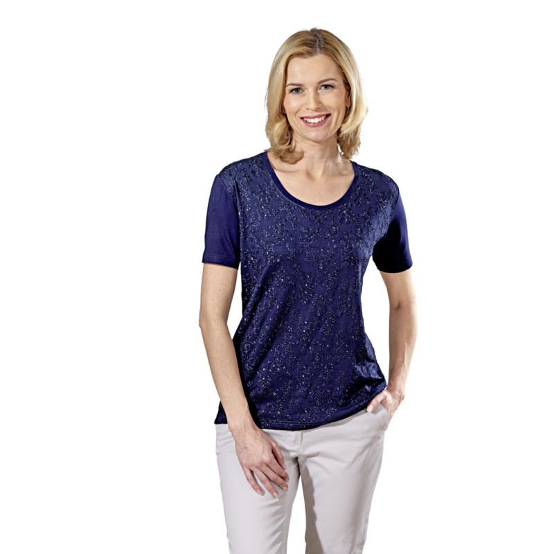 Tričko s výšivkou, nám. modrá