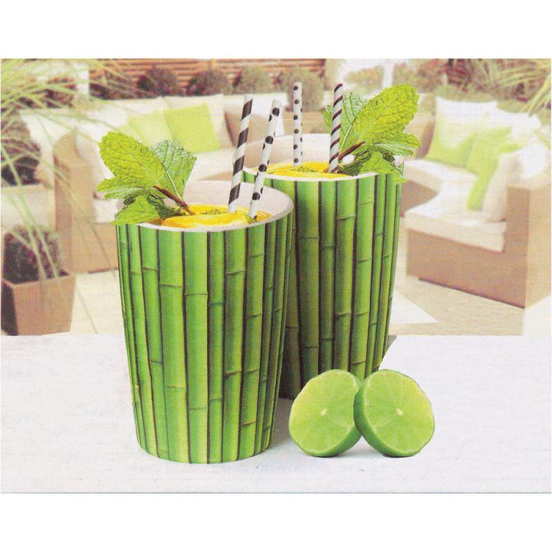 Sada bambusových pohárikov