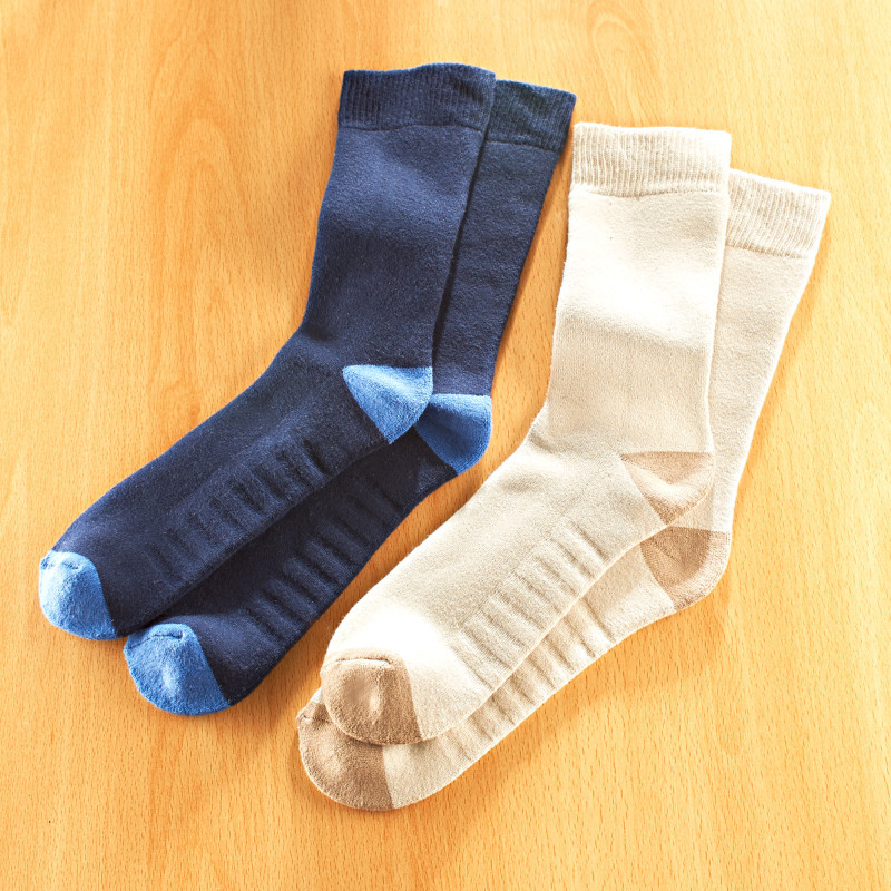 2 páry ponožiek pre vbočené palce, béžová + námornícká modrá