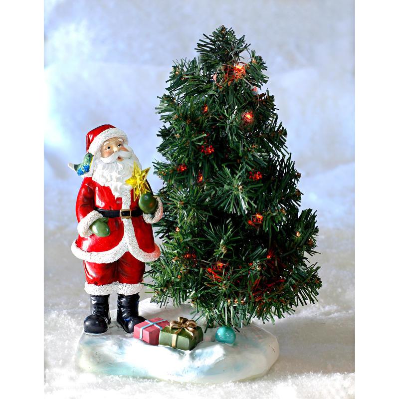Solární jedlička se Santa Clausem onerror=