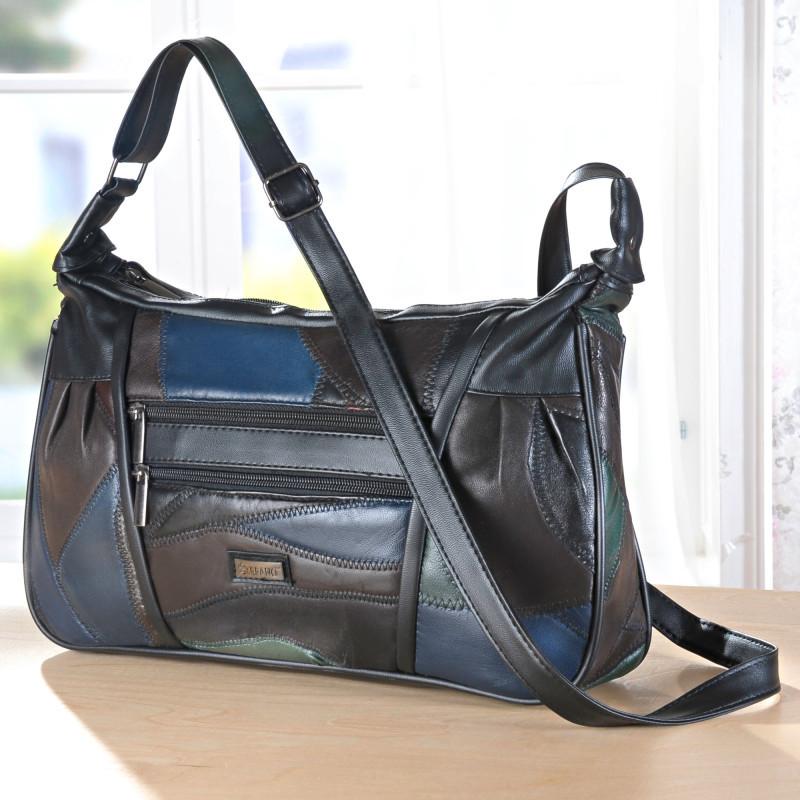 Kožená kabelka, vícebarevná onerror=
