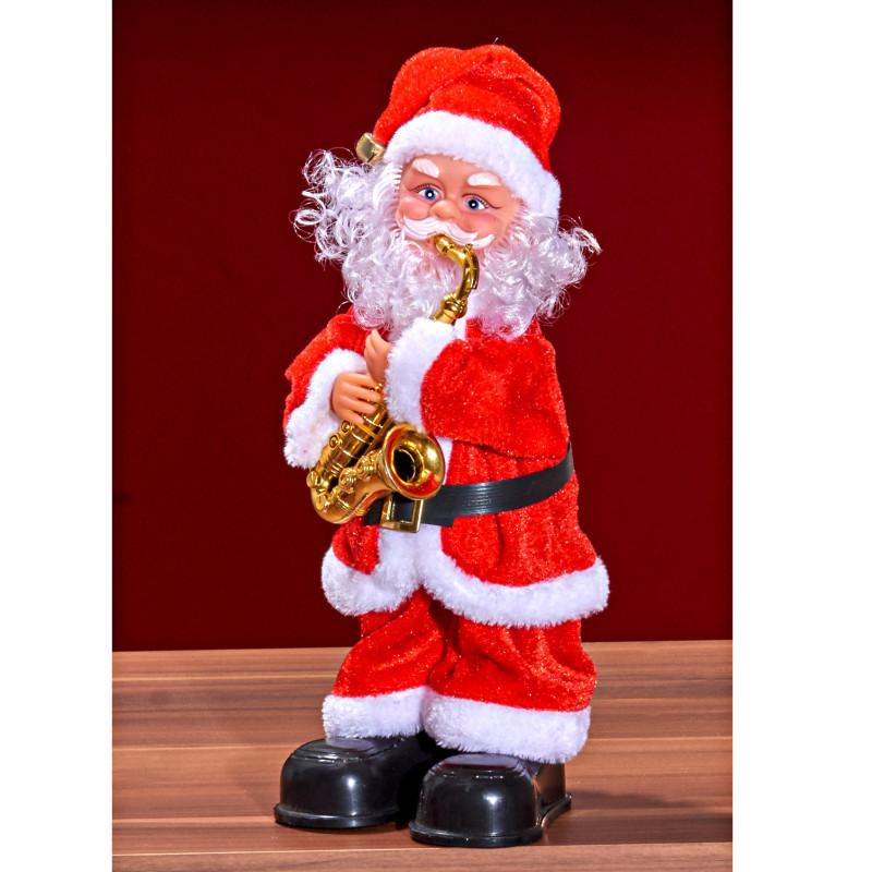Santa Claus so saxofónom