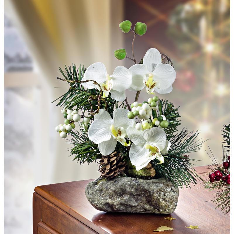 Aranžmán z orchideí, biela