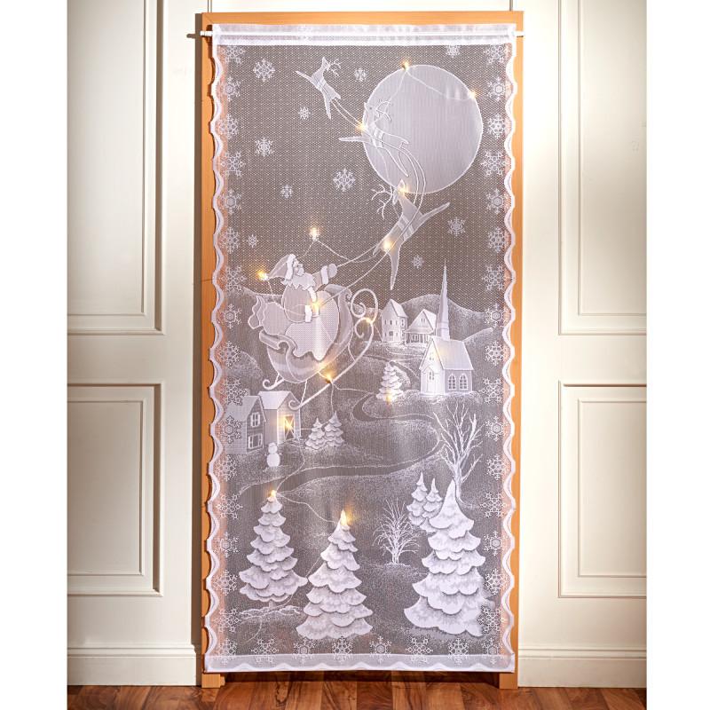LED záclona do dverí