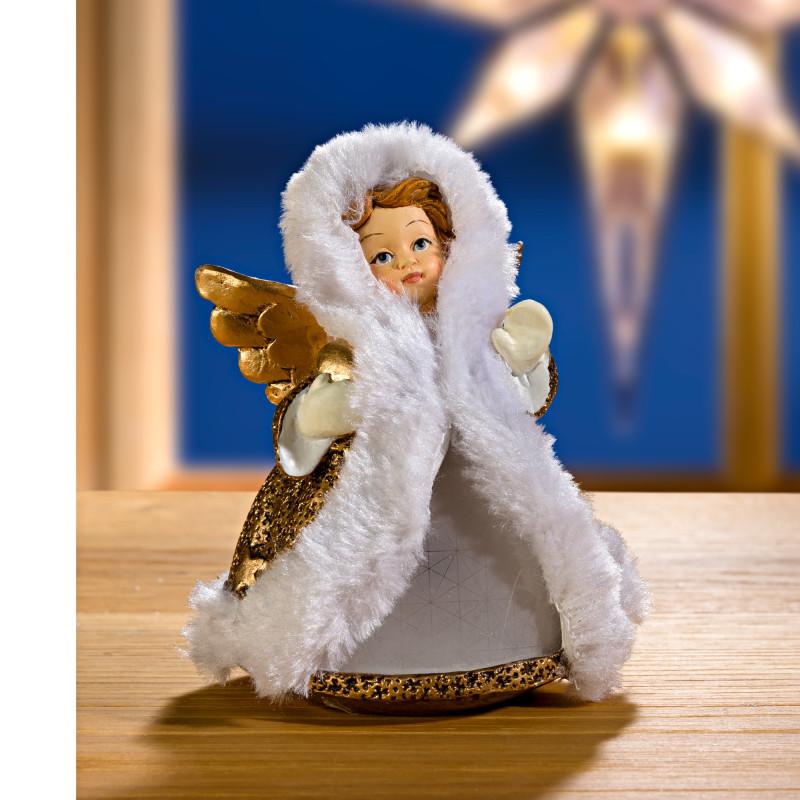 LED anděl, zlatá barva onerror=