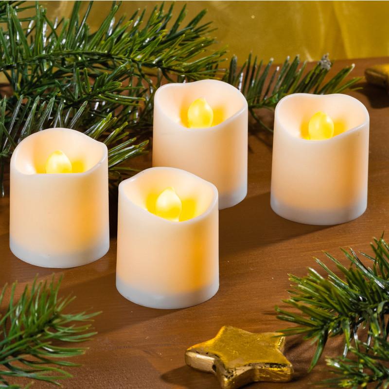2 LED sviečky, biela