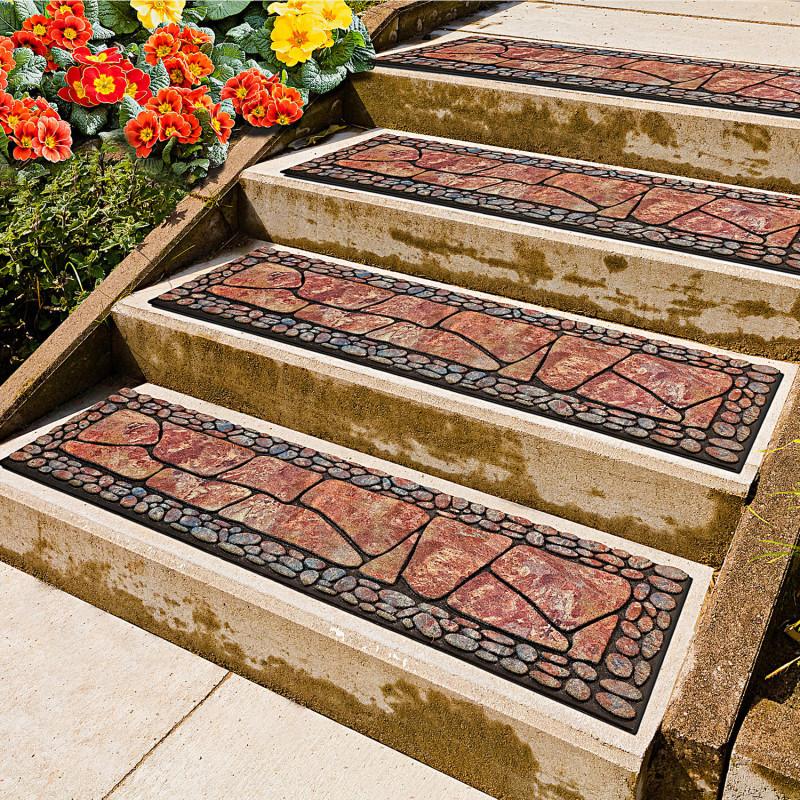 Rohožky na schody kamenná mozaika 2 ks