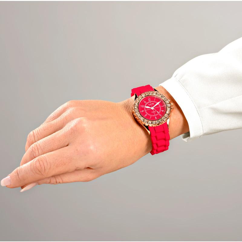 Zegarek damski, czarny onerror=