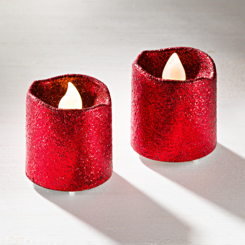 2 LED svíčky, červená onerror=