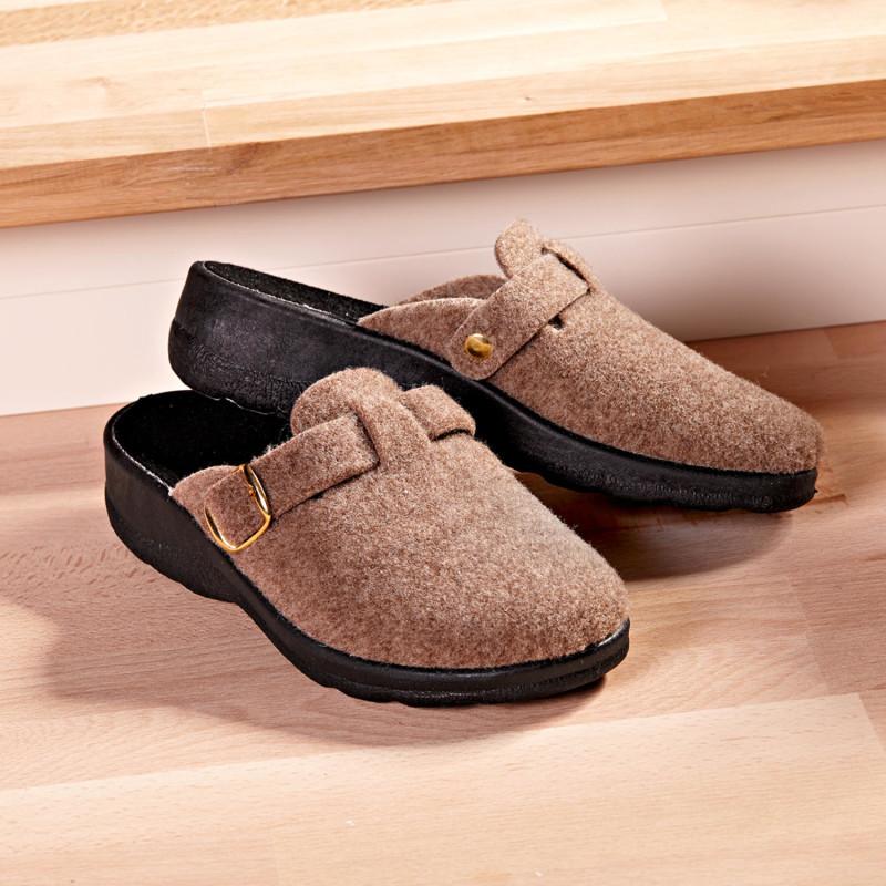 Domáca obuv, béžová