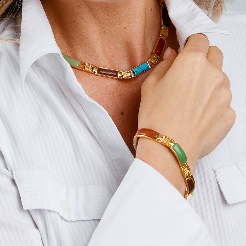 Magnetický náhrdelník, délka 44 cm onerror=