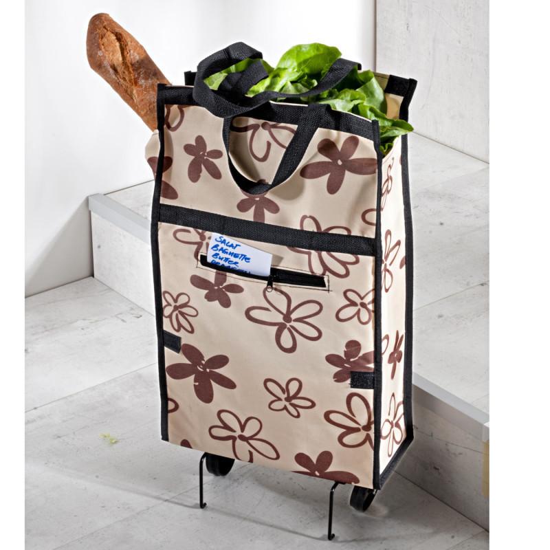 Skladacia nákupná taška s kolieskami