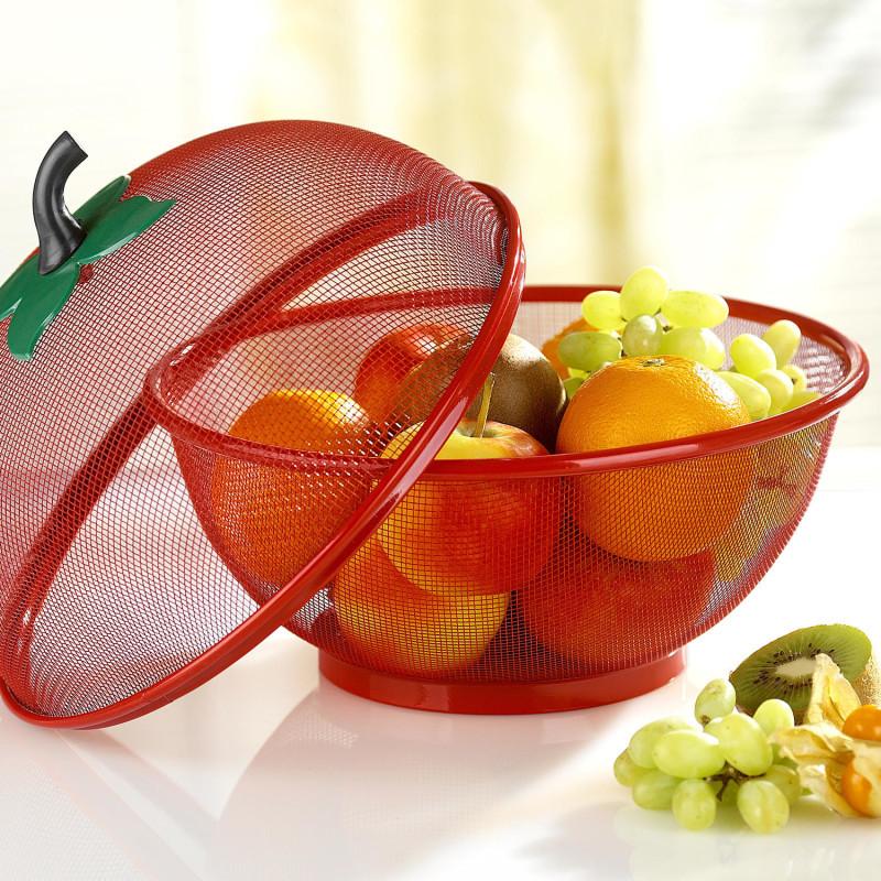 2dílný košík na ovoce, červená onerror=