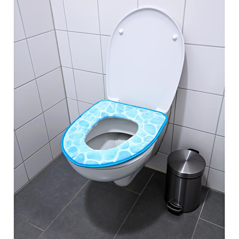 Polstrované sedátko na WC, modrá onerror=