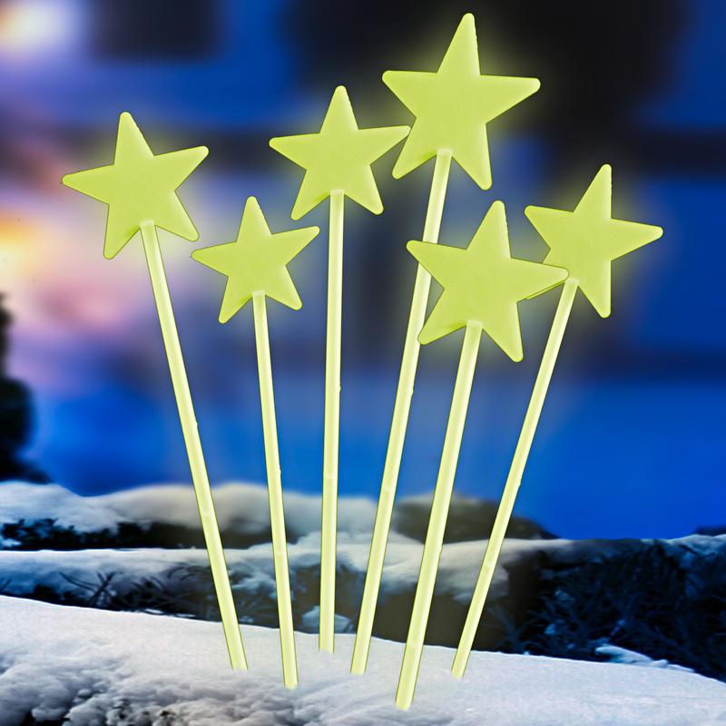 Świecące gwiazdki na patyku 6 szt. onerror=