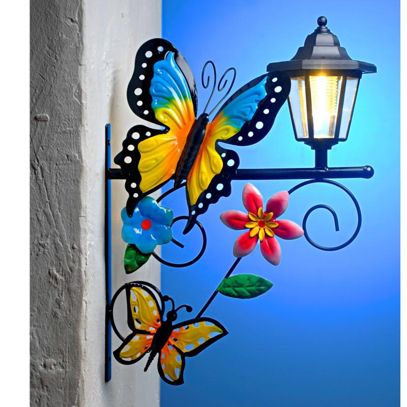 Solární svítilna s motýly onerror=