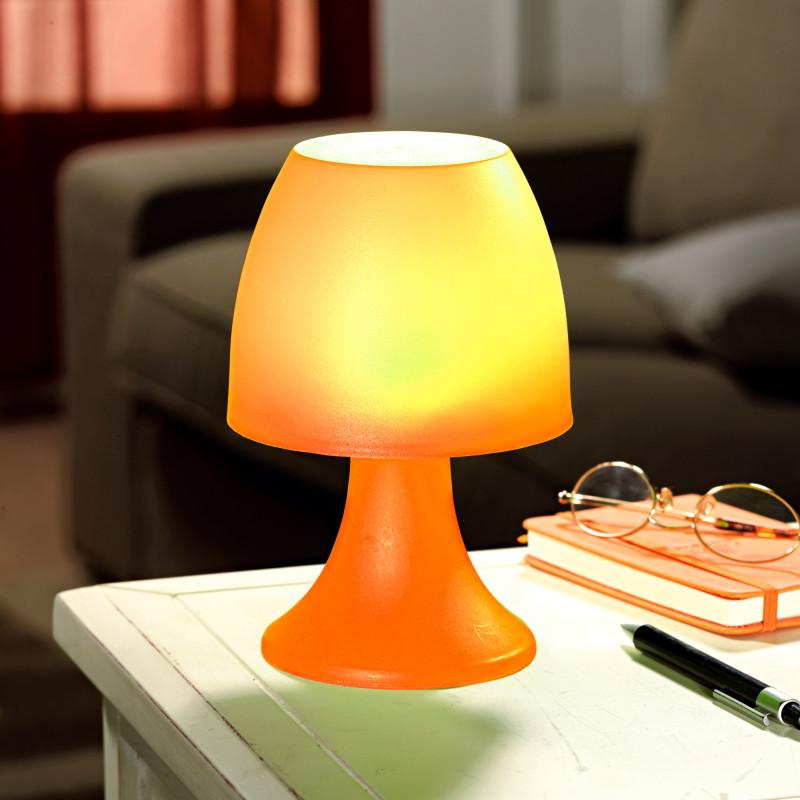 Stolní lampička na 6 LED diod, oranžová onerror=