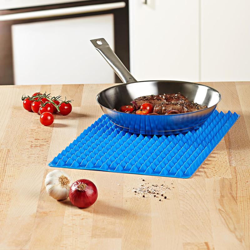 Silikonová pečicí podložka, modrá onerror=