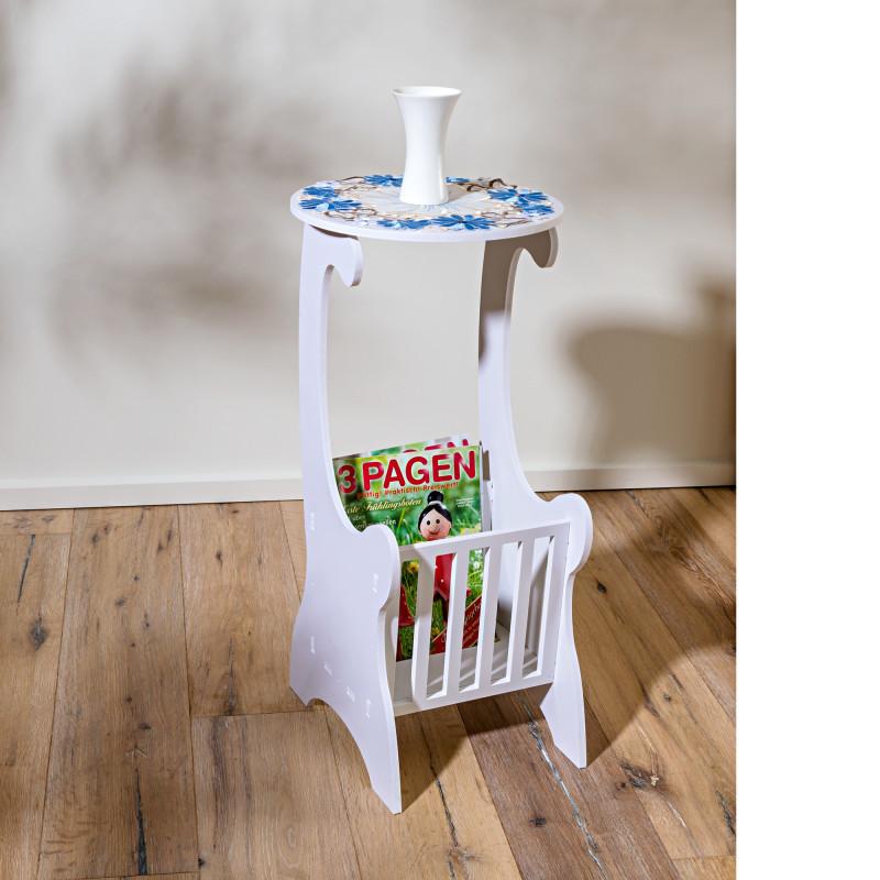 Odkládací stolek, bílá onerror=