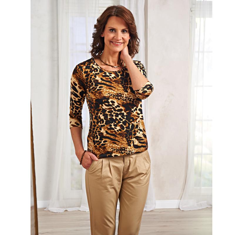 Tričko s leoparďou potlačou