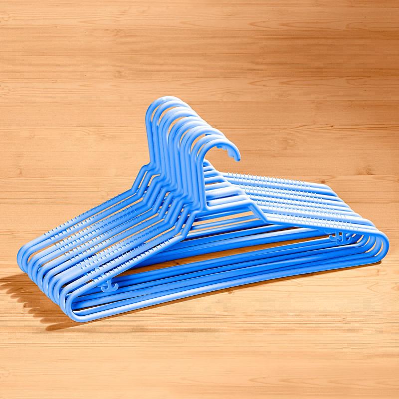 10 protiskluzových ramínek, modrá onerror=