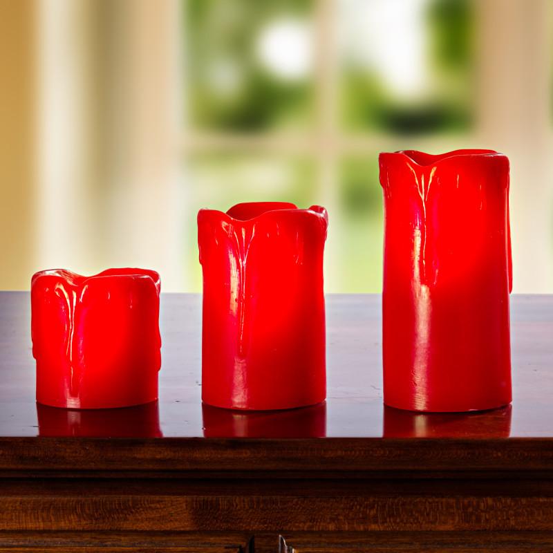 LED svíce 5 cm, červená onerror=