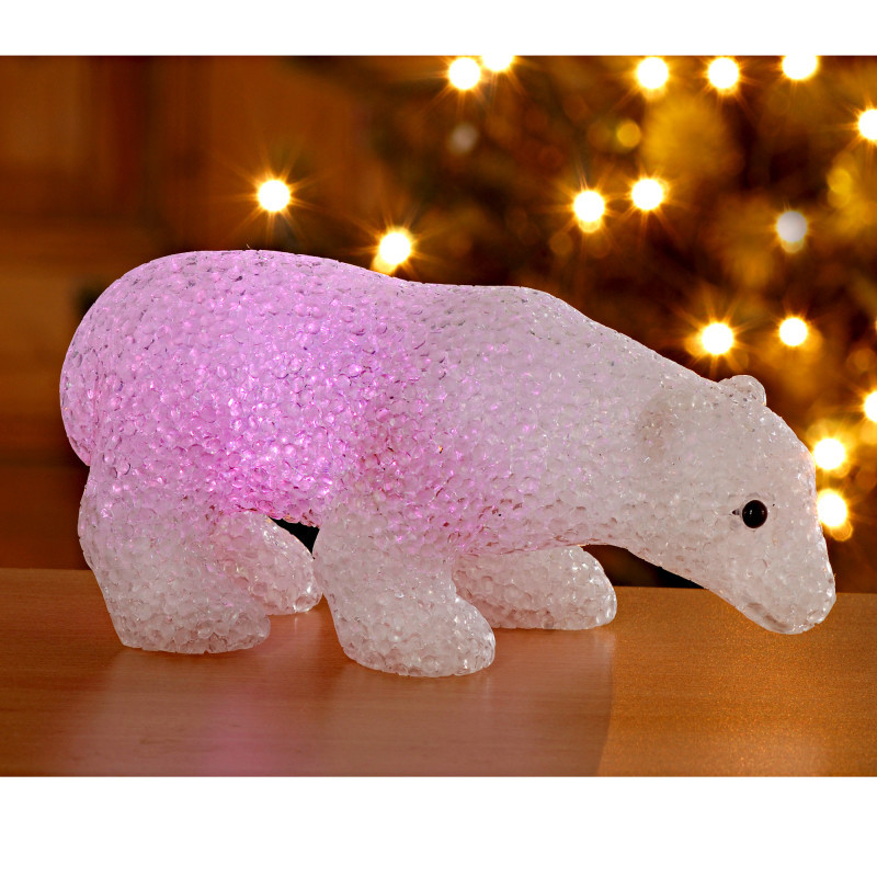 Ľadový medveď so svetlom