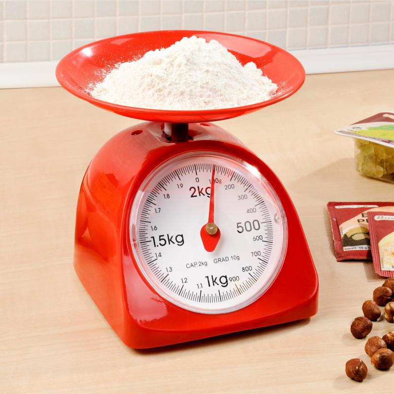 Kuchyňská váha, červená onerror=