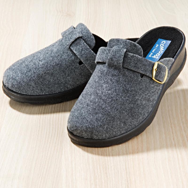 Domáca obuv, sivá