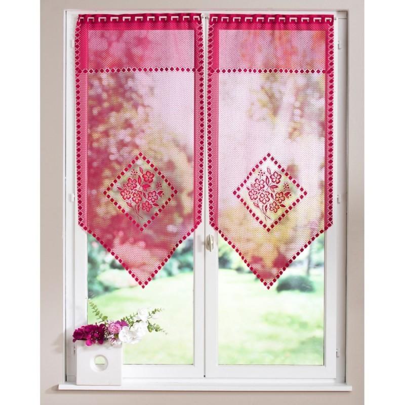 Záclona vitrážová kvety