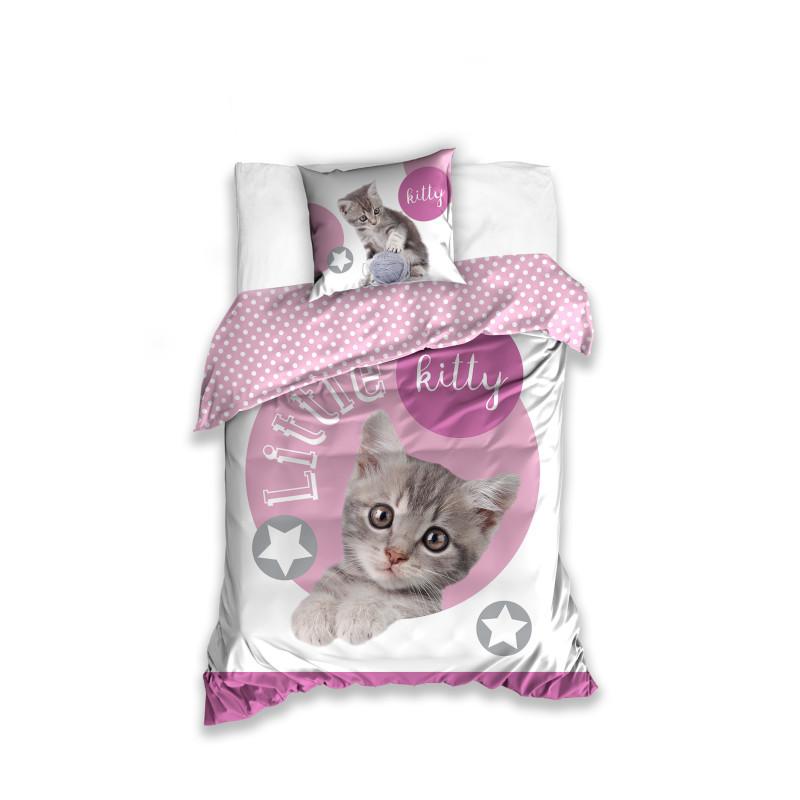 Komplet pościeli bawełnianej Mały kotek onerror=