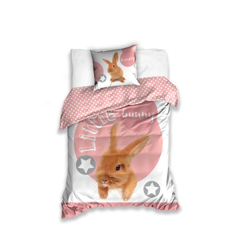 Komplet pościeli bawełnianej Mały króliczek onerror=