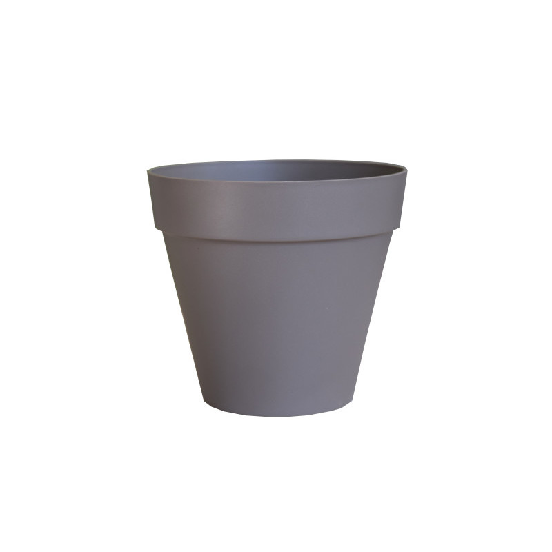 Designový květináč ELHO šedohnědý průměr 20 cm
