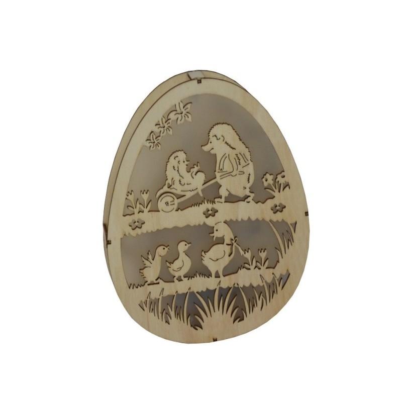 LED dekorační vyřezávané vajíčko Husy