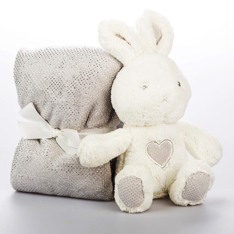 Plyšový králíček s dekou