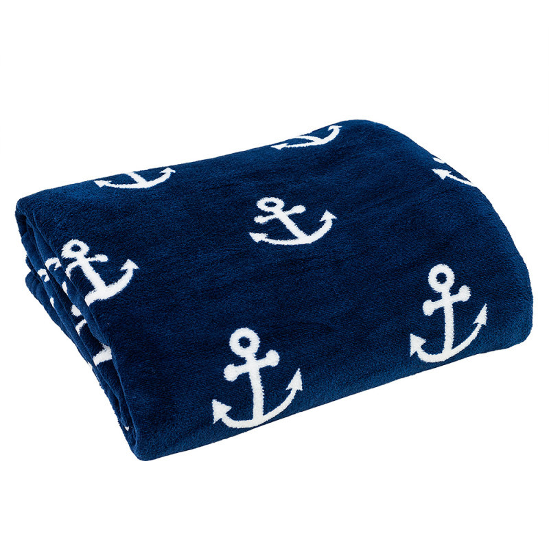 Plyšová deka s kotvou