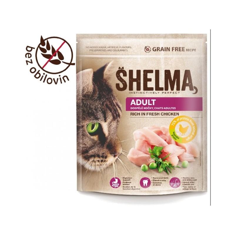 Shelma Adult bezobilné granule pro dospělé kočky 750g