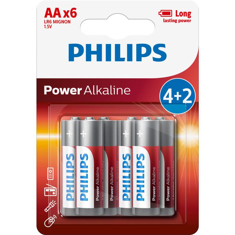 Baterie Philips 4+2 AA (1,5V) onerror=