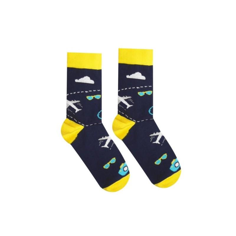 Veselé ponožky Cestovatel