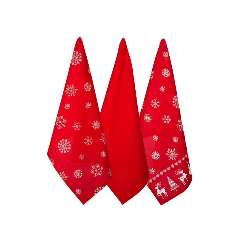 Bożonarodzeniowy zestaw ściereczek kuchennych onerror=
