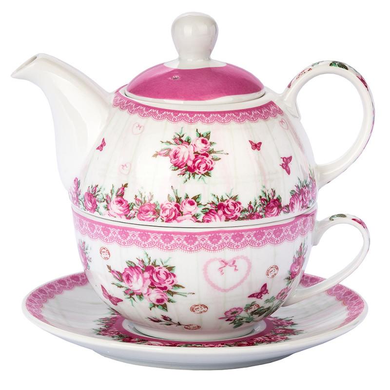 Čajová konvička Růže