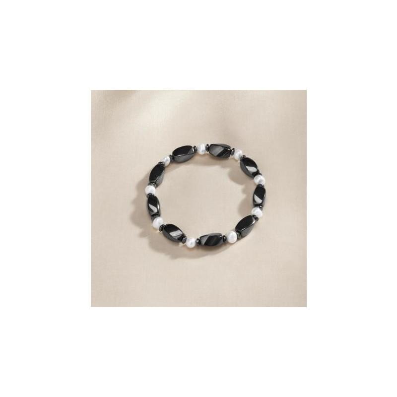Hematitový náramok s perlami