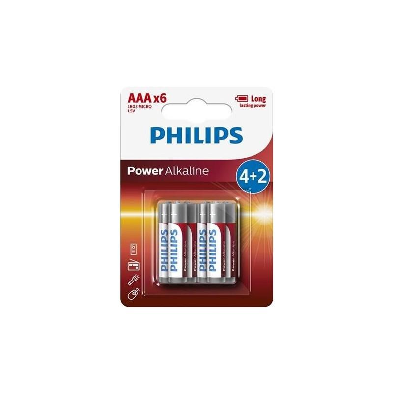Baterie Philips 4+2 AAA (1,5V) onerror=