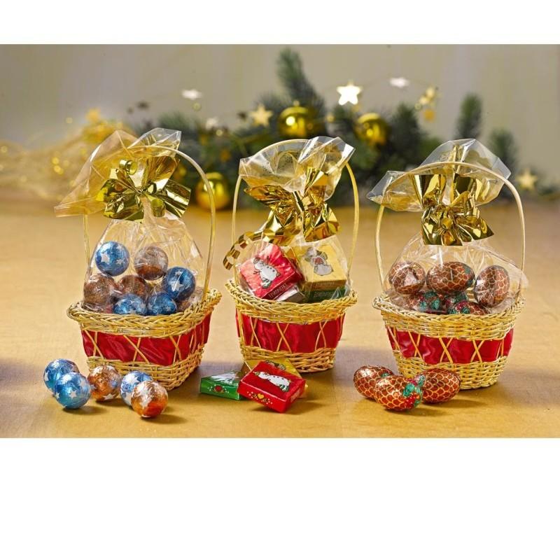 3dílná sada vánočních košíčků + sladkosti onerror=