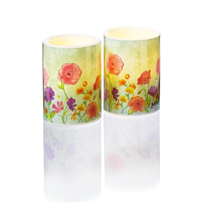 Świeca LED Wiosenne kwiaty onerror=