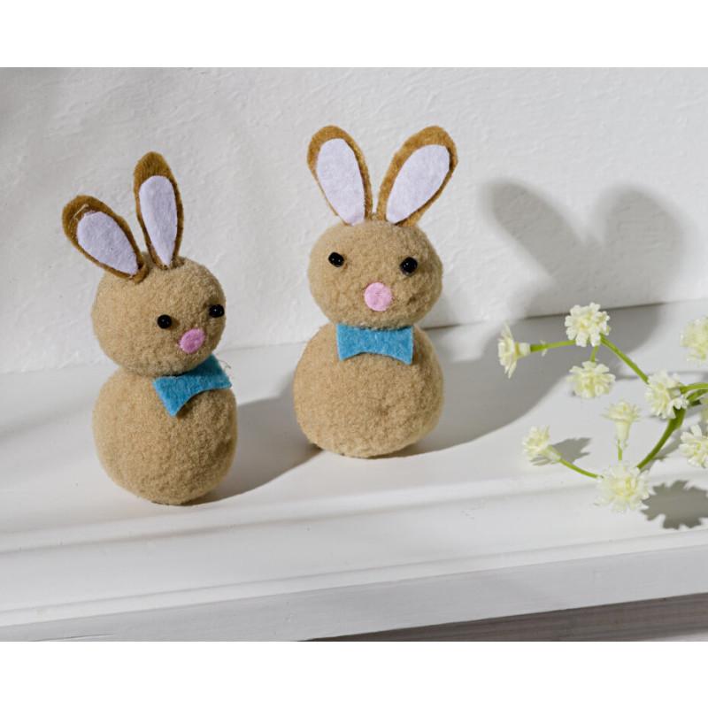 2 plyšové zajačiky